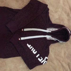 Burgundy love hoodie